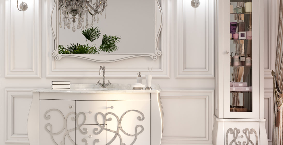 What material is appropriate for the bathroom furniture?