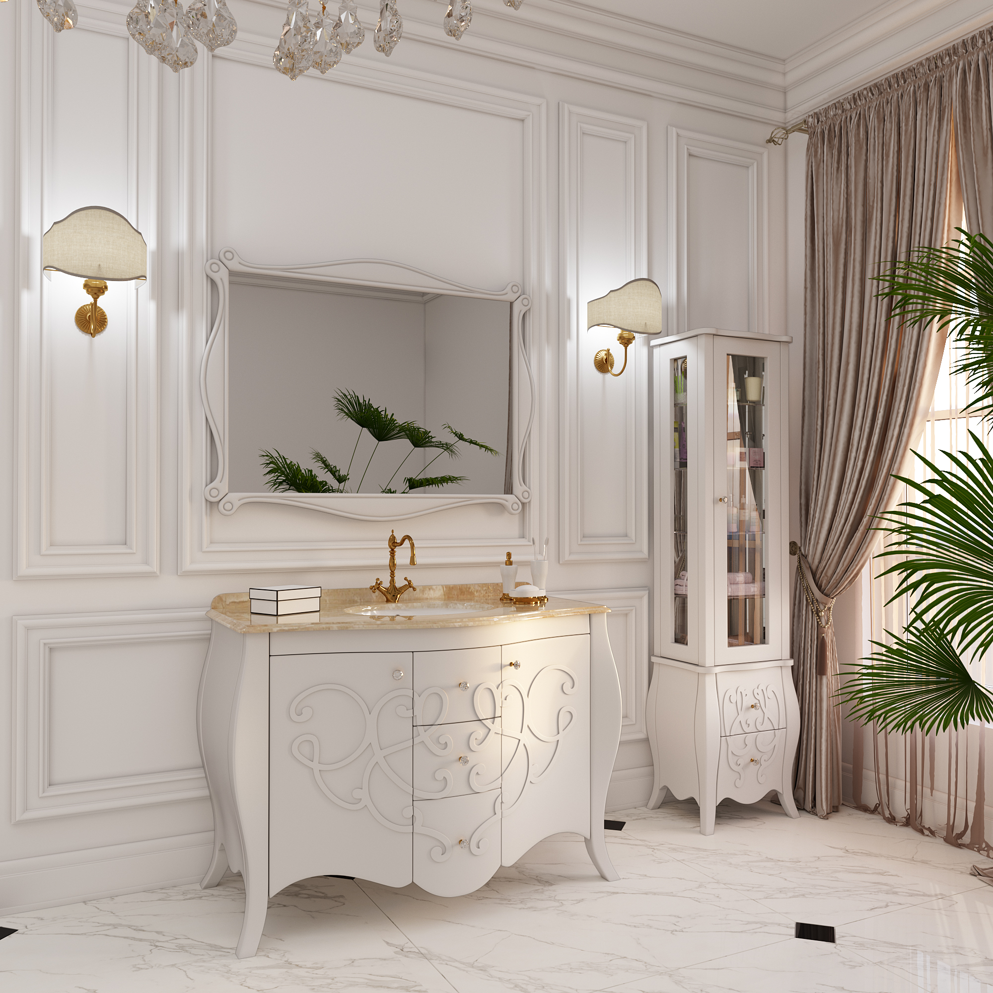 """Furniture for the bathroom of series """"Luxury"""""""