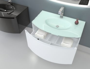Glass sink for the bathroom: varieties and peculiarities.
