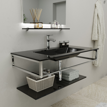 Wall-Mount Bracket and Vanity Unit Sink